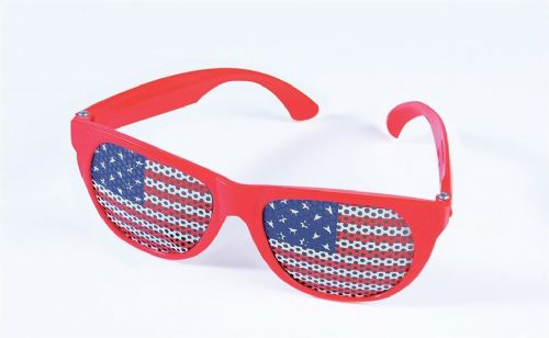 USA Patriotic Flag Glasses American United States Party Decoration